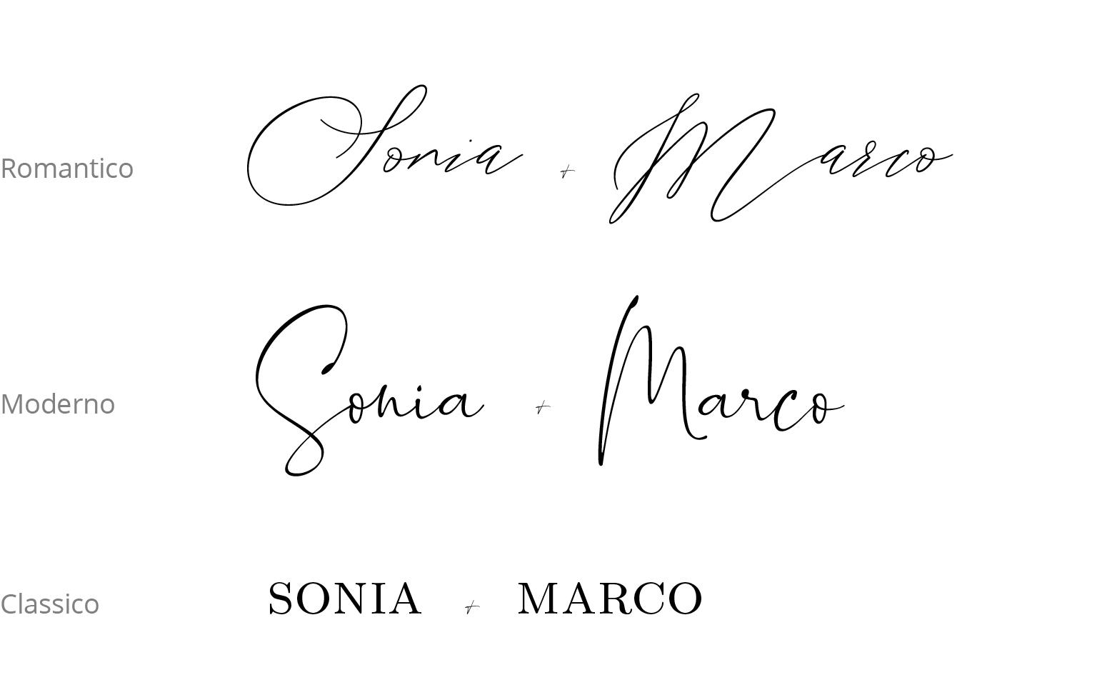Carta Muriel opzioni font partecipazioni carta artigianale riciclata