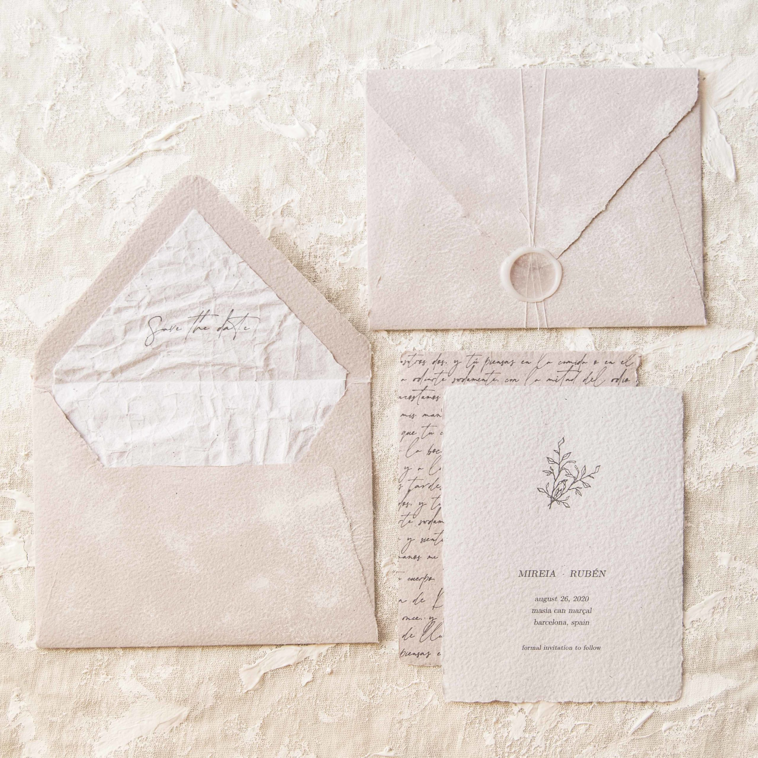 custom handmade wedding stationery