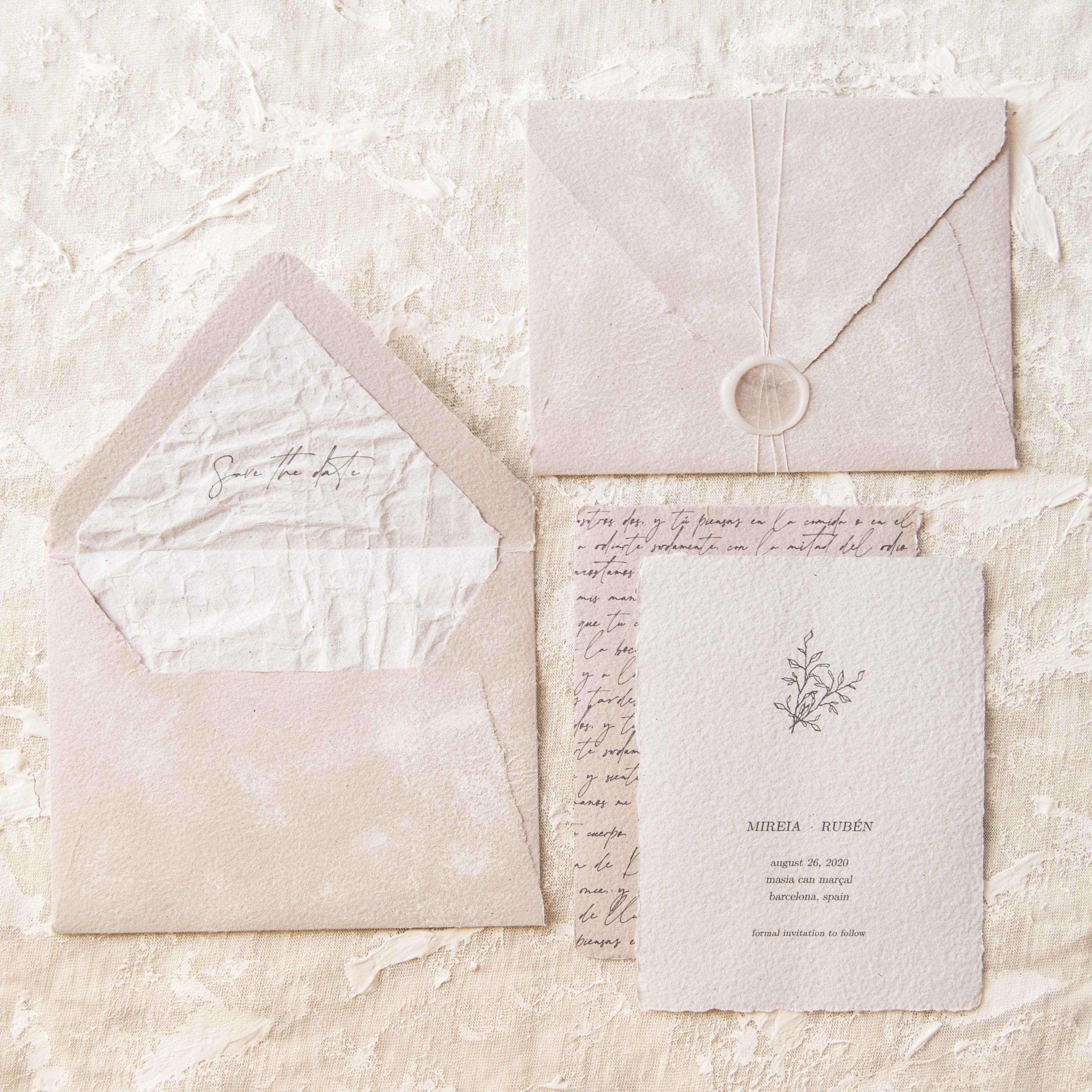 custom handmade wedding stationery