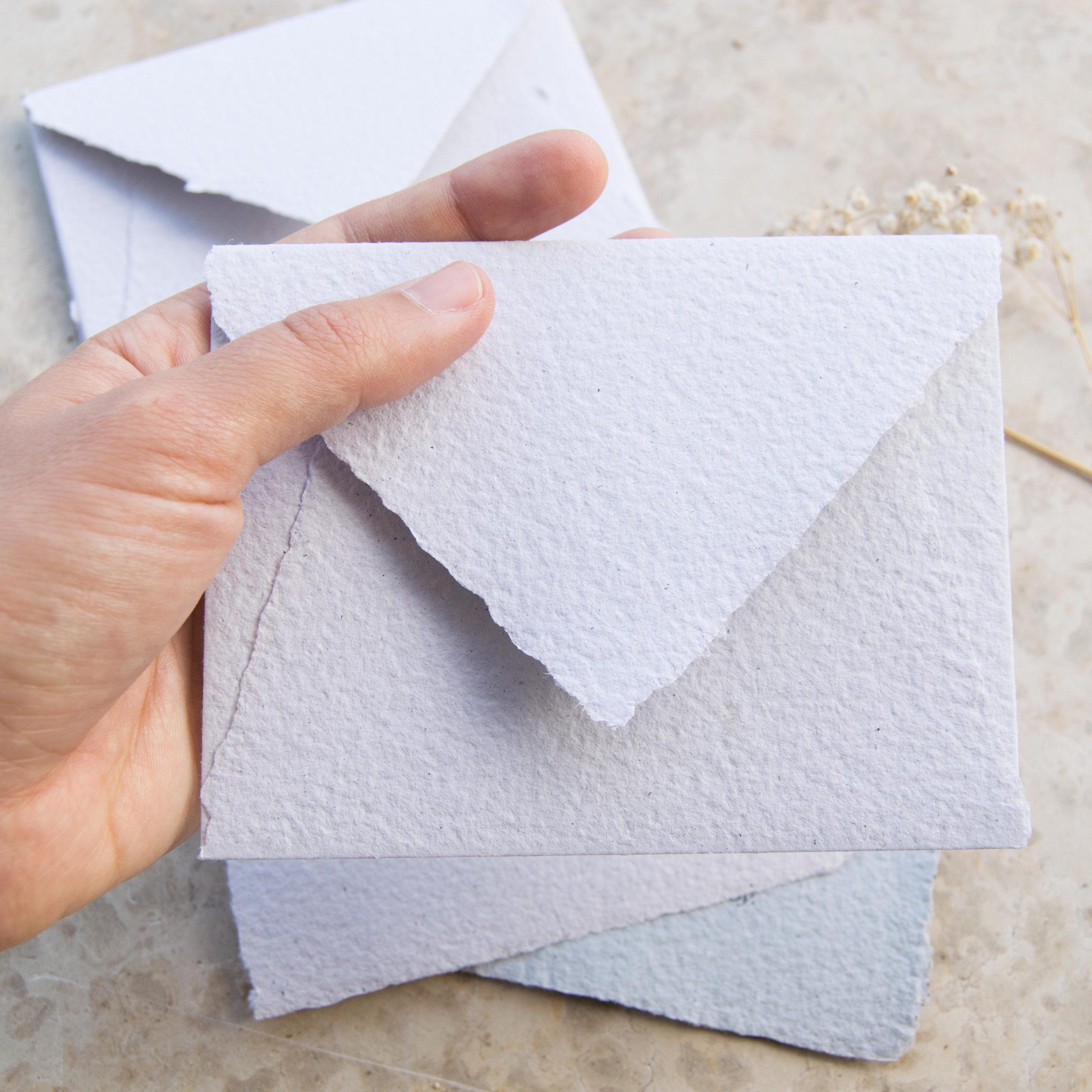 partecipazioni di matrimonio in carta fatta a mano