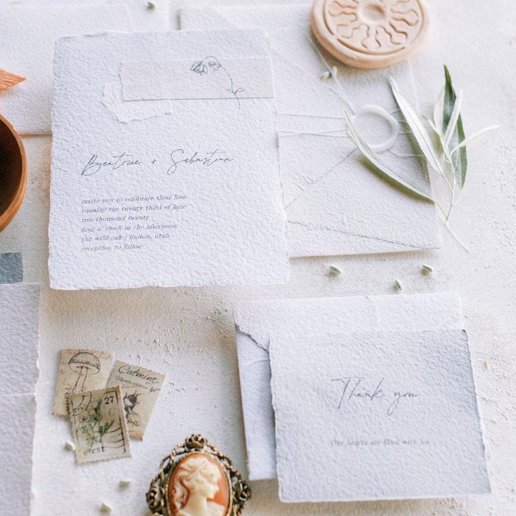 carta fatta a mano partecipazioni artigianali