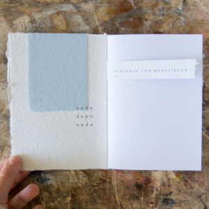 Quaderno fatto a mano con copertina in carta artigianale riciclata